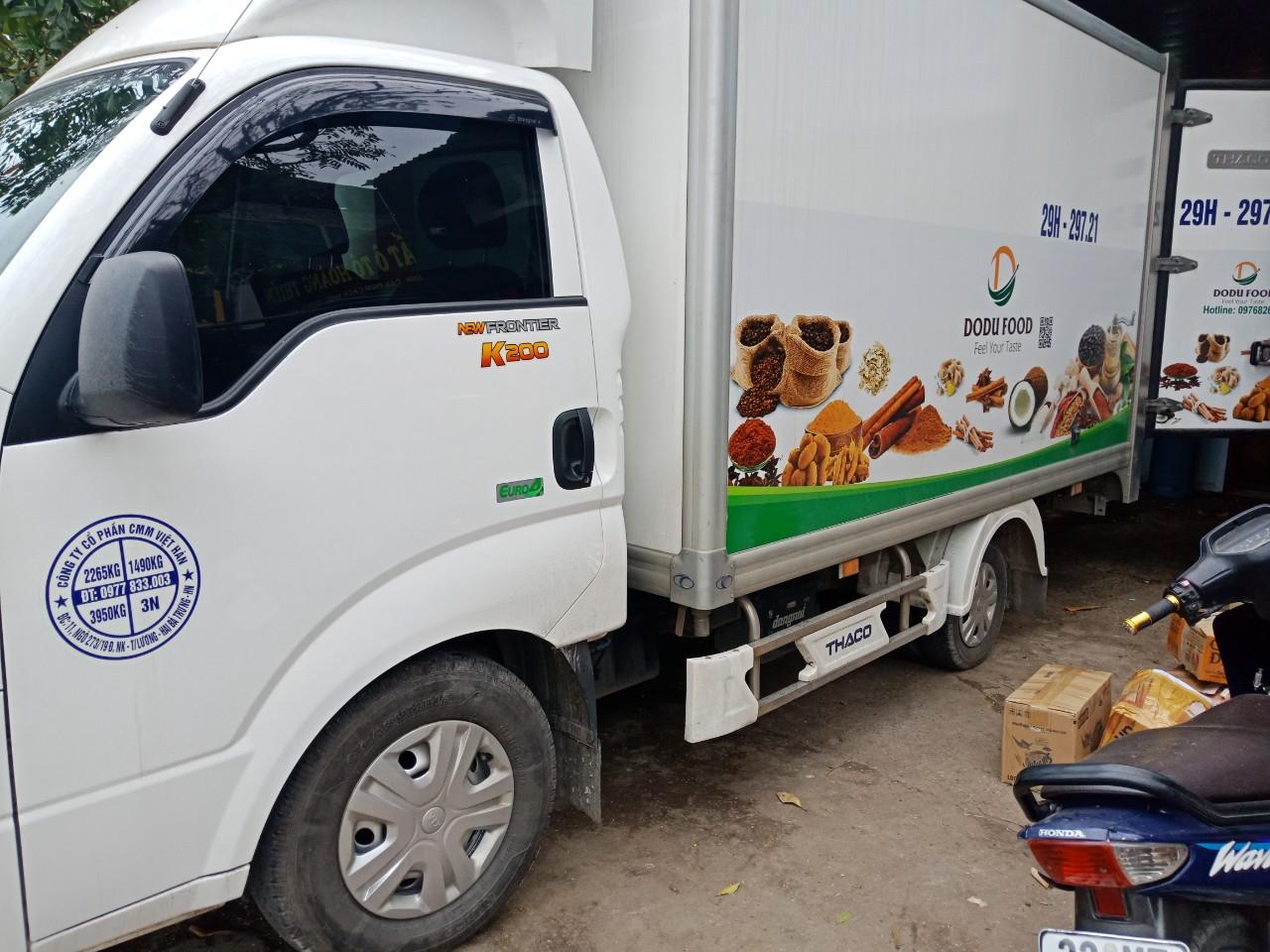 Cho thuê xe đông lạnh chở đồ ăn, thực phẩm tươi sống tại Hà Nội